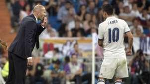 James Rodríguez con Zidane / Real Madrid 2016