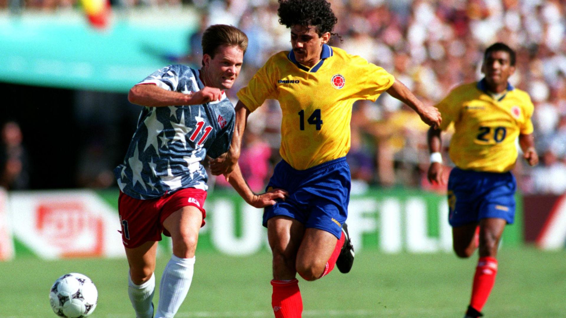 El paso de Colombia en USA 94