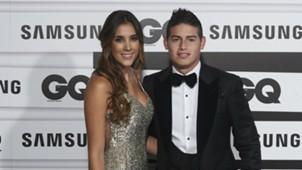 James Rodríguez con Daniela Ospina - Premios GQ