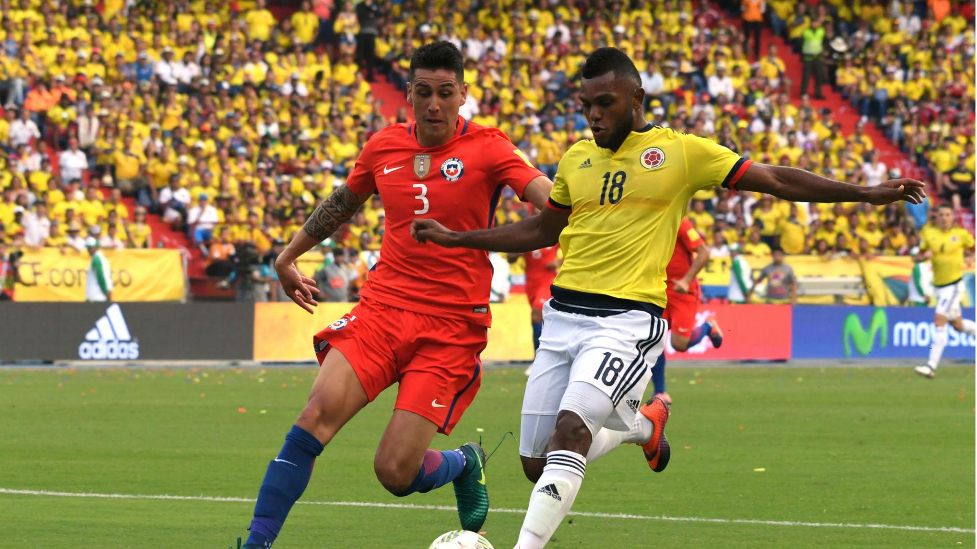 Miguel Borja & Enzo Roco Colombia vs Chile Eliminatoria 10112016