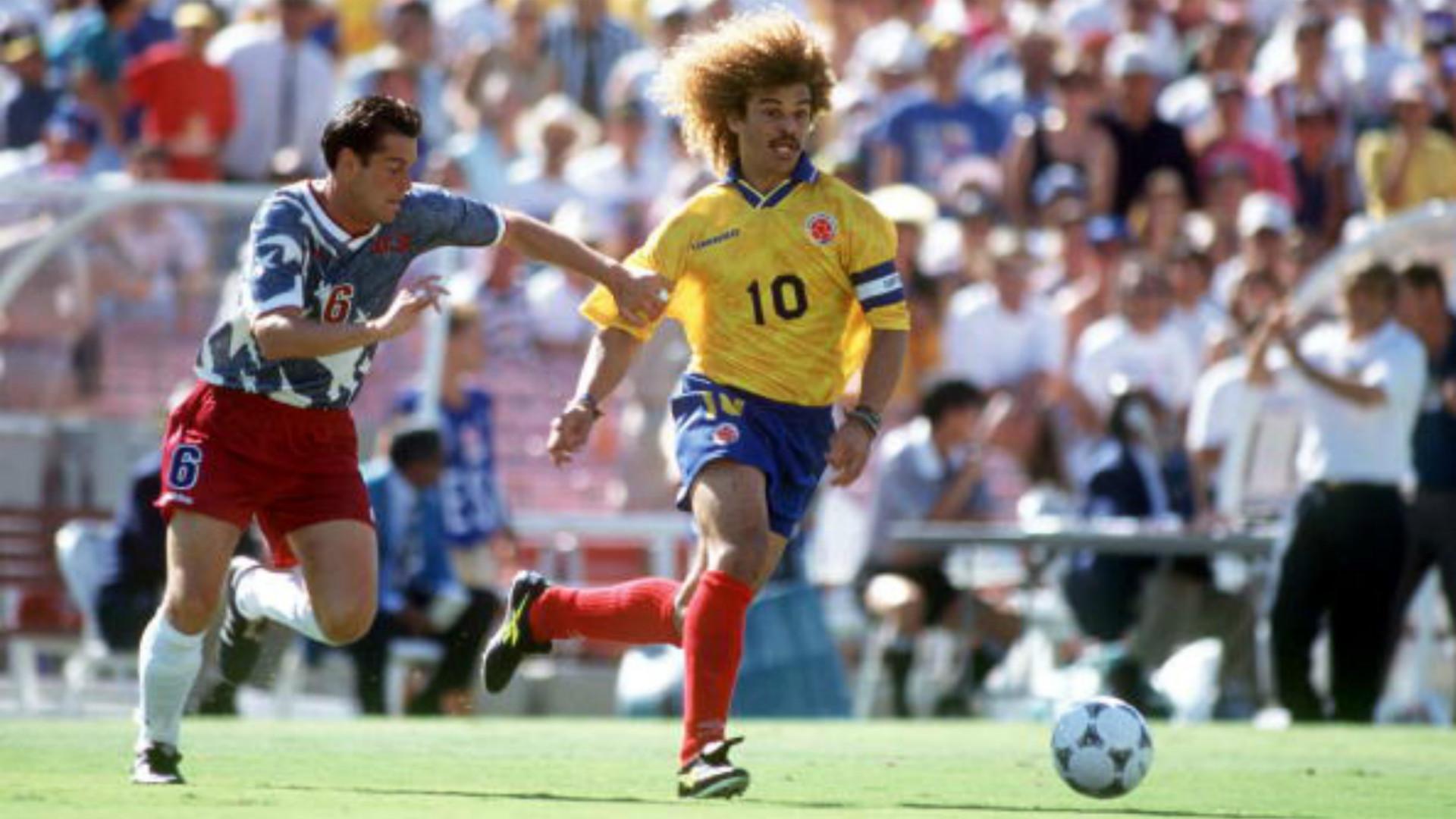 John Harkes Carlos Valderrama Colombia USA WC USA94 22061994