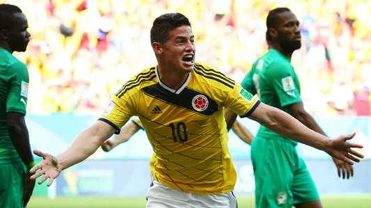 James Rodríguez Colombia vs Costa de Marfil Brasil 2014