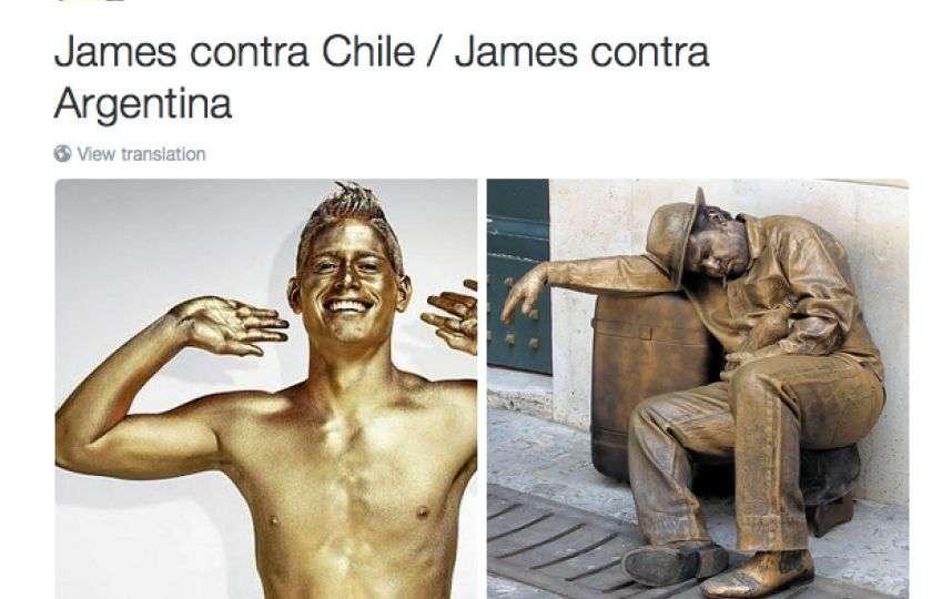 Memes derrota de Colombia ante Argentina