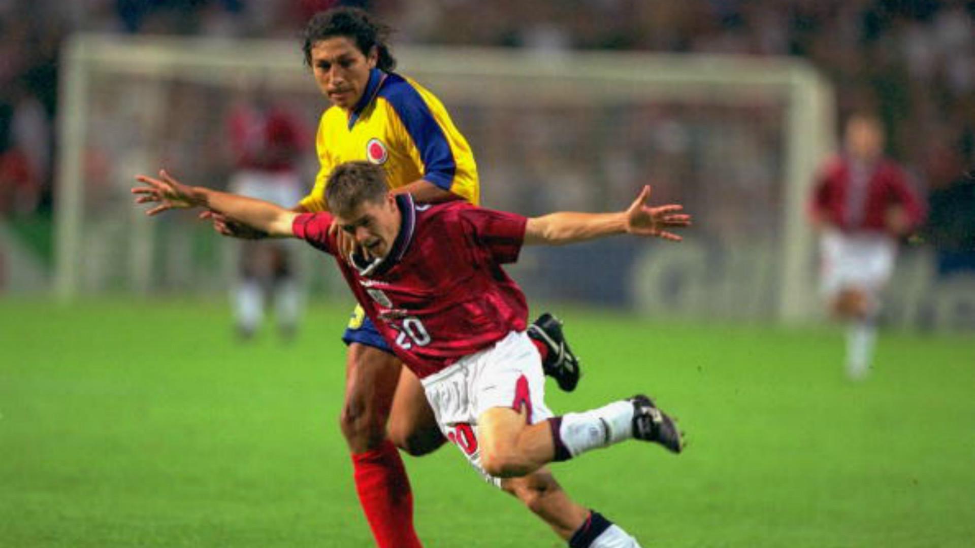 Jorge Bermúdez Colombia vs Inglaterra Francia 98