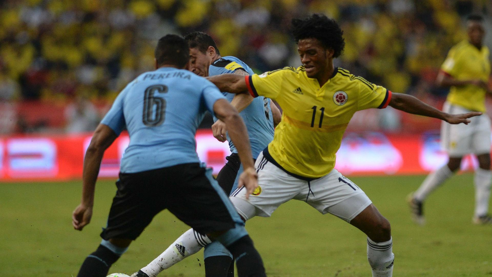 Juan Cuadrado Colombia vs uruguay Eliminatoria 2016