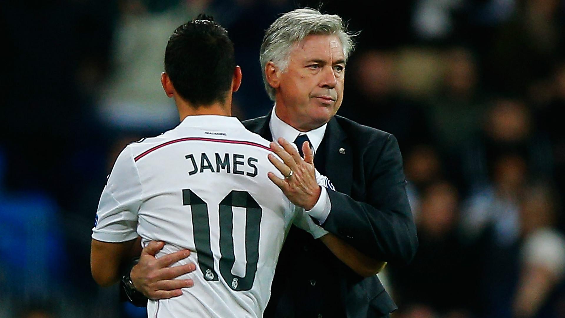 Carlo Ancelotti - James Rodríguez - Real Madrid