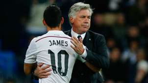 Carlo Ancelotti - James Rodríguez - Real Madrid
