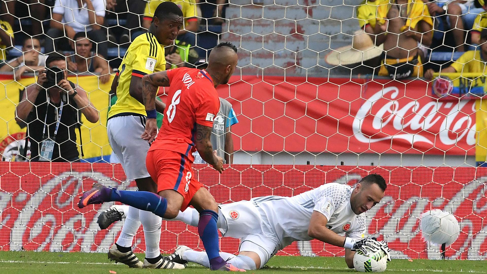 David Ospina Colombia vs Chile Eliminatoria 10112016