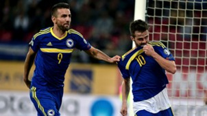 Vedad Ibisevic Miralem Pjanic Bosnia and Herzegovina