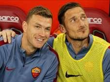 Edin Dzeko Francesco Totti