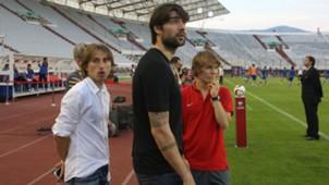 luka modric vedran corluka alen halilovic - croatia italy - euro 2016 qualifier - 12062015