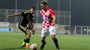 nikola vlasic - croatia u21 spain u21 - qualifier - 17112015