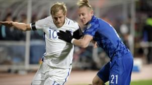 teemu pukki domagoj vida - finland croatia - wc qualifier - 09102016
