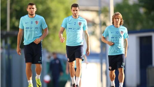 Mateo Kovacic Sime Vrsaljko Luka Modric Croatia training