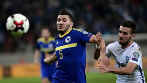 Sead Kolasinac Yannis Gianniotas Bosnia Greece