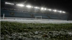 CSKA Moscow stadium snow
