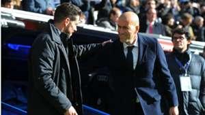 Diego Simeone Zinedine Zidane