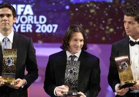 Kaka, el último Balón de Oro antes de la dictadura de Messi y Cristiano