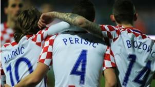 Luka Modric Ivan Perisic Marcelo Brozovic Croatia Israel friendly