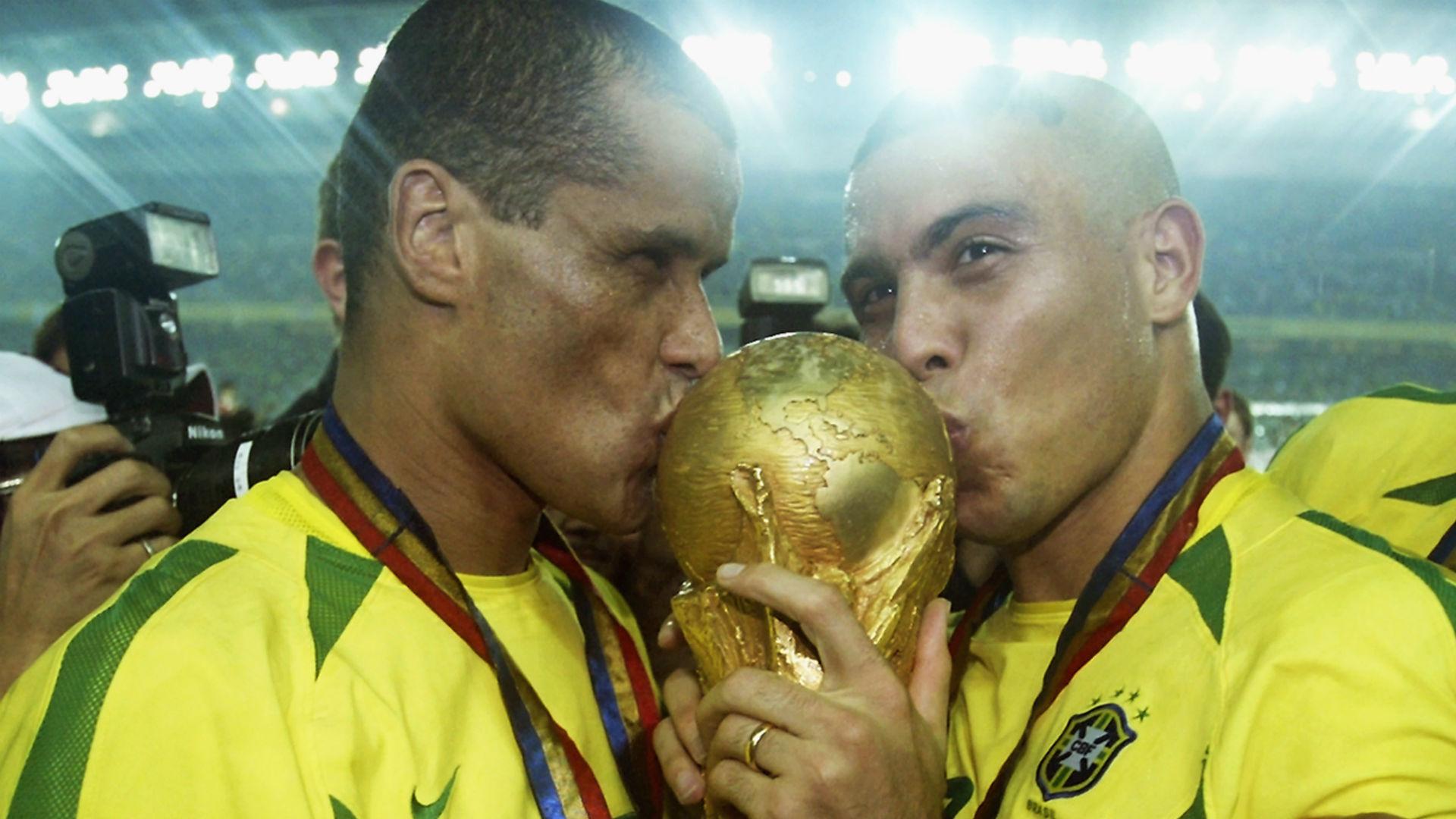 rivaldo ronaldo nazario - brazil world cup - 2002