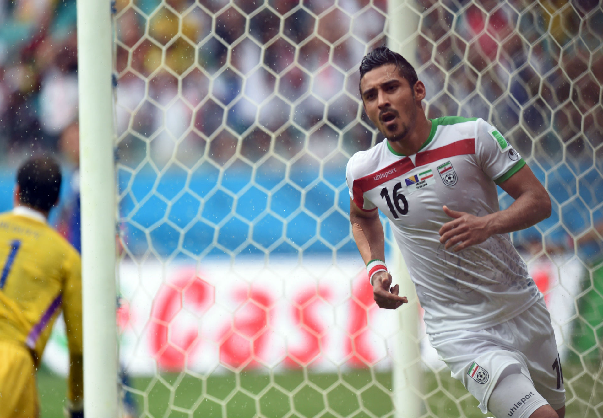 Reza Ghoochannejhad iran bosnia 2014 world cup group F 25062014