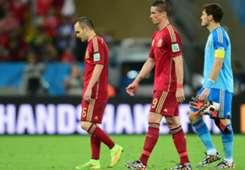 Iniesta Torres Casillas Spanjolska