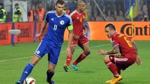 edin dzeko radja nainggolan - bosnia 1 belgium 1 - euro 2016 qualifiers - 13102014