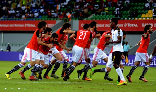 egypt vs ghana - african caup of nations 25-1-2017