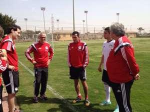 Hector Cuper - Osama Nabih - training the Egyptian team