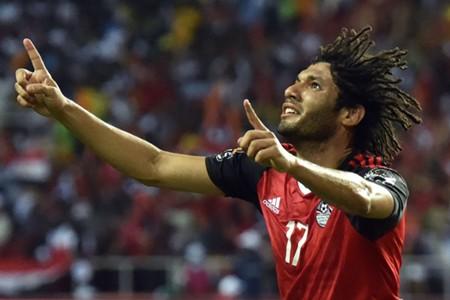 Mohamed Elneny - egypt vs cameroon caf 2017 - 5-2-2017