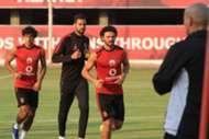 Ahmed Adel - Hossam Ghaly - Mohamed Hany - Al Ahly training