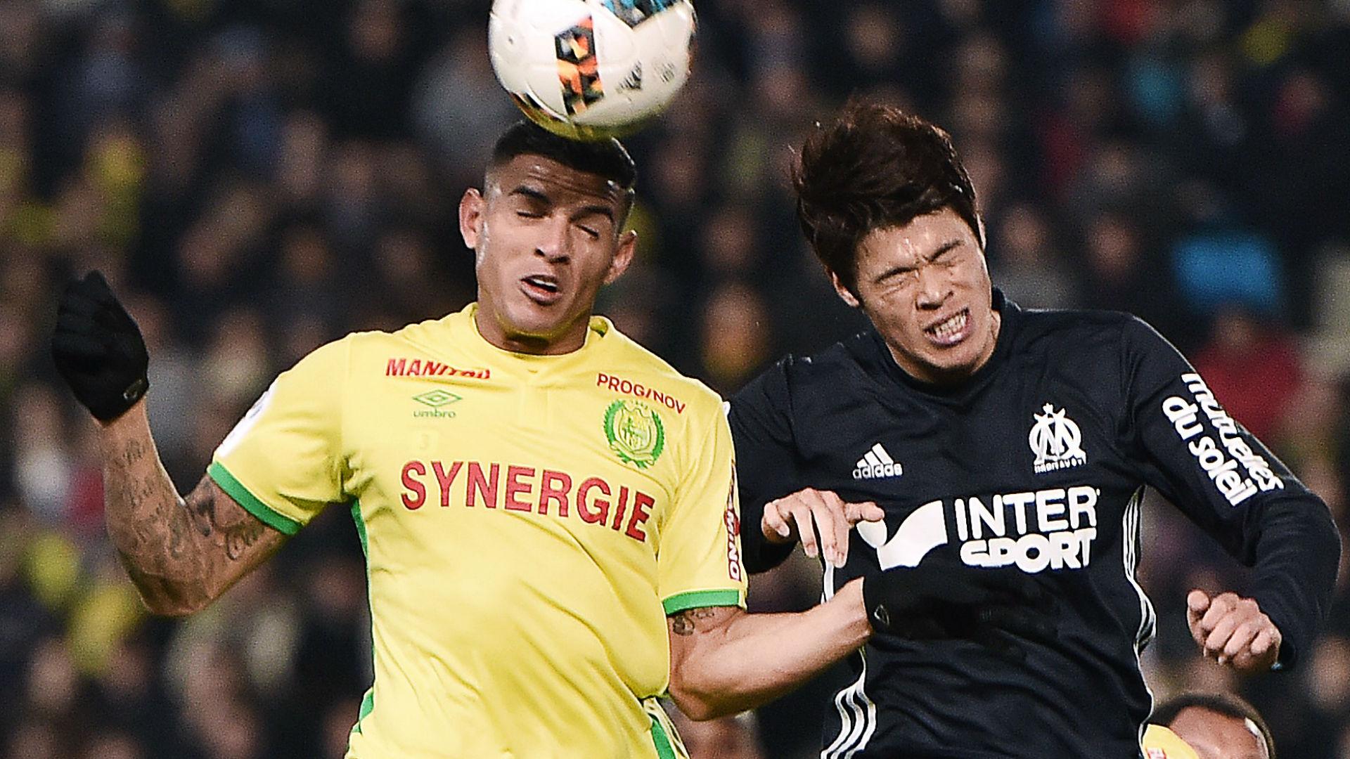 Diego Carlos Hiroki Sakai Nantes Marseille Ligue 1 12022017