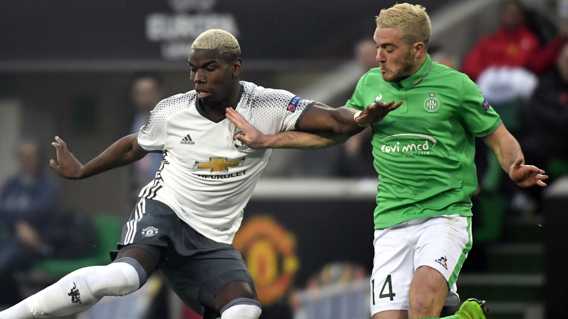 Paul Pogba Jordan Veretout Saint-Etienne Manchester United UEFA Europa League 20022016