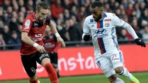 Alexandre Lacazette Lucas Deaux Guingamp Lyon Ligue 1 11022017