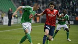 Romain Hamouma Benjamin Pavard ASSE Lille Ligue 1 22032015