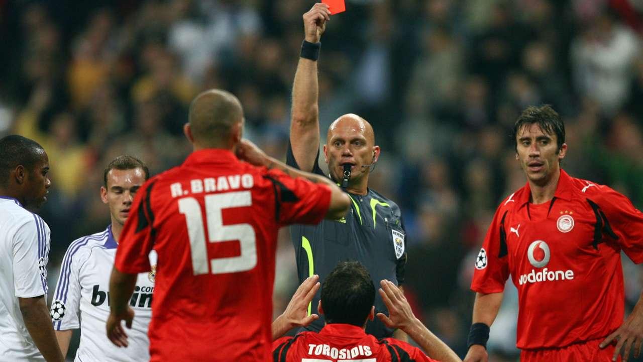 Torosidis Red Card Real Madrid Olympiakos UCL