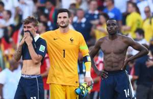 Antoine Griezmann Hugo Lloris Blaise Matuidi France Germany World Cup 2014 07042014