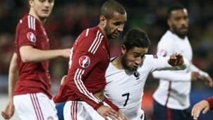 Nabil Fekir Simon Poulsen France Denmark Friendly 29032015