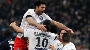 Thiago Motta Zlatan Ibrahimovic Bordeaux Paris SG Ligue 1 15032015