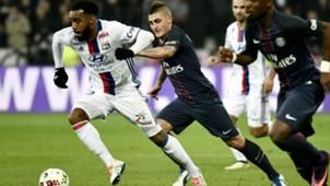 Alexandre Lacazette Marco Verratti Lyon Paris SG Ligue 1 27112016