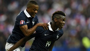 Paul Pogba Patrice Evra France Portugal Friendly 11102014