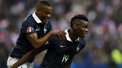 Paul Pogba Patrice Evra France Portugal Friendly 11102014