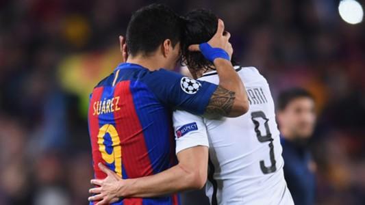 Barça PSG Champions League Barcelona Paris Saint-Germain  Cavani Suarez