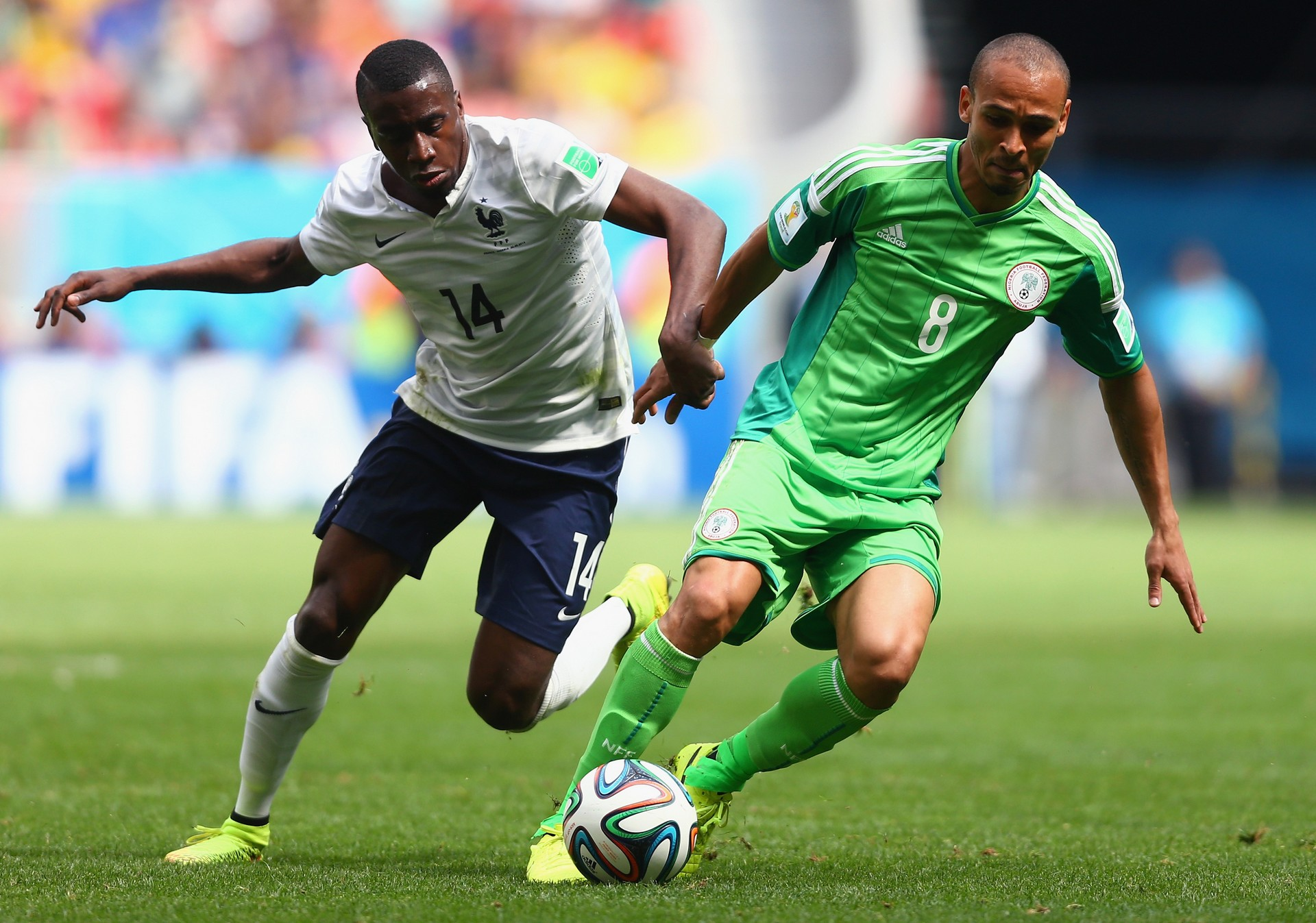 Peter Odemwingie Blaise Matuidi France Nigeria World Cup 06302014