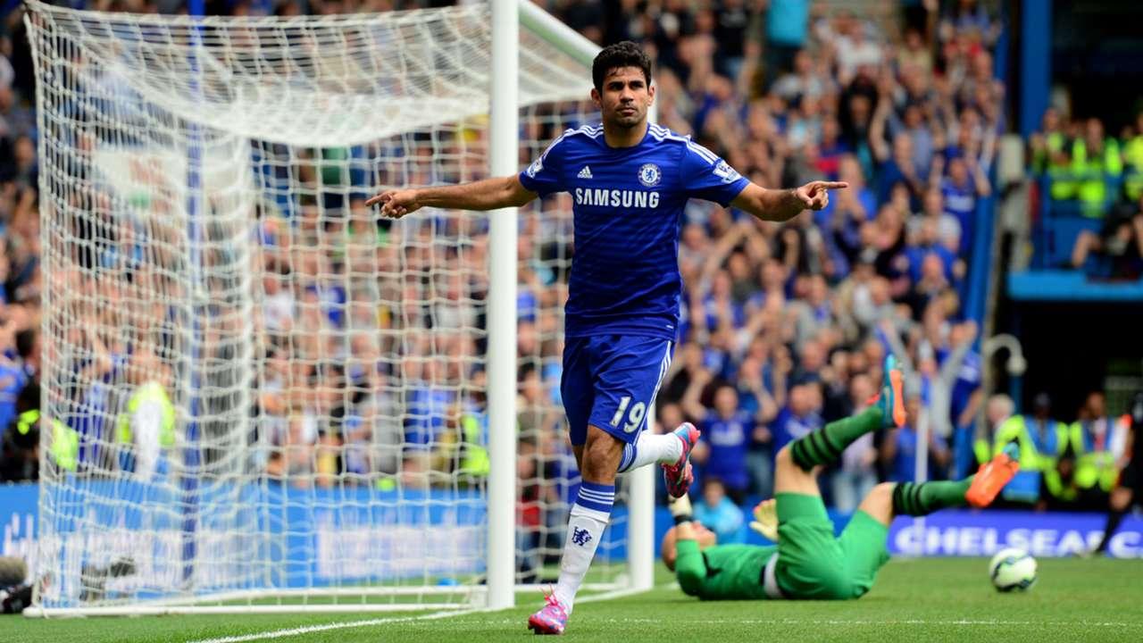 Diego Costa Chelsea Aston Villa Premier League 27092014
