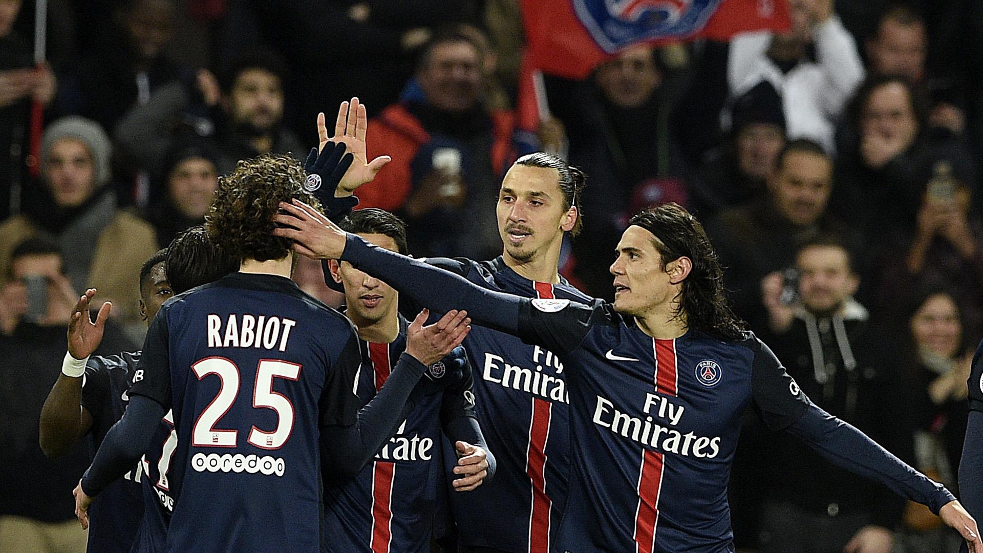 PSG Lyon OL Cavani Ibrahimovic Rabiot Ligue 1 13/12/2015