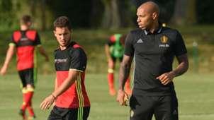 Eden Hazard Thierry Henry Belgium training 29082016
