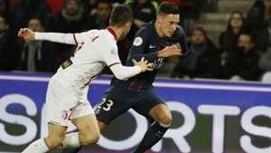 Julian Draxler Sebastien Corchia Paris SG Lille Ligue 1 07022017