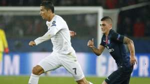 Cristiano Ronaldo Marco Verratti Paris SG Real Madrid UEFA Champions League 21102015