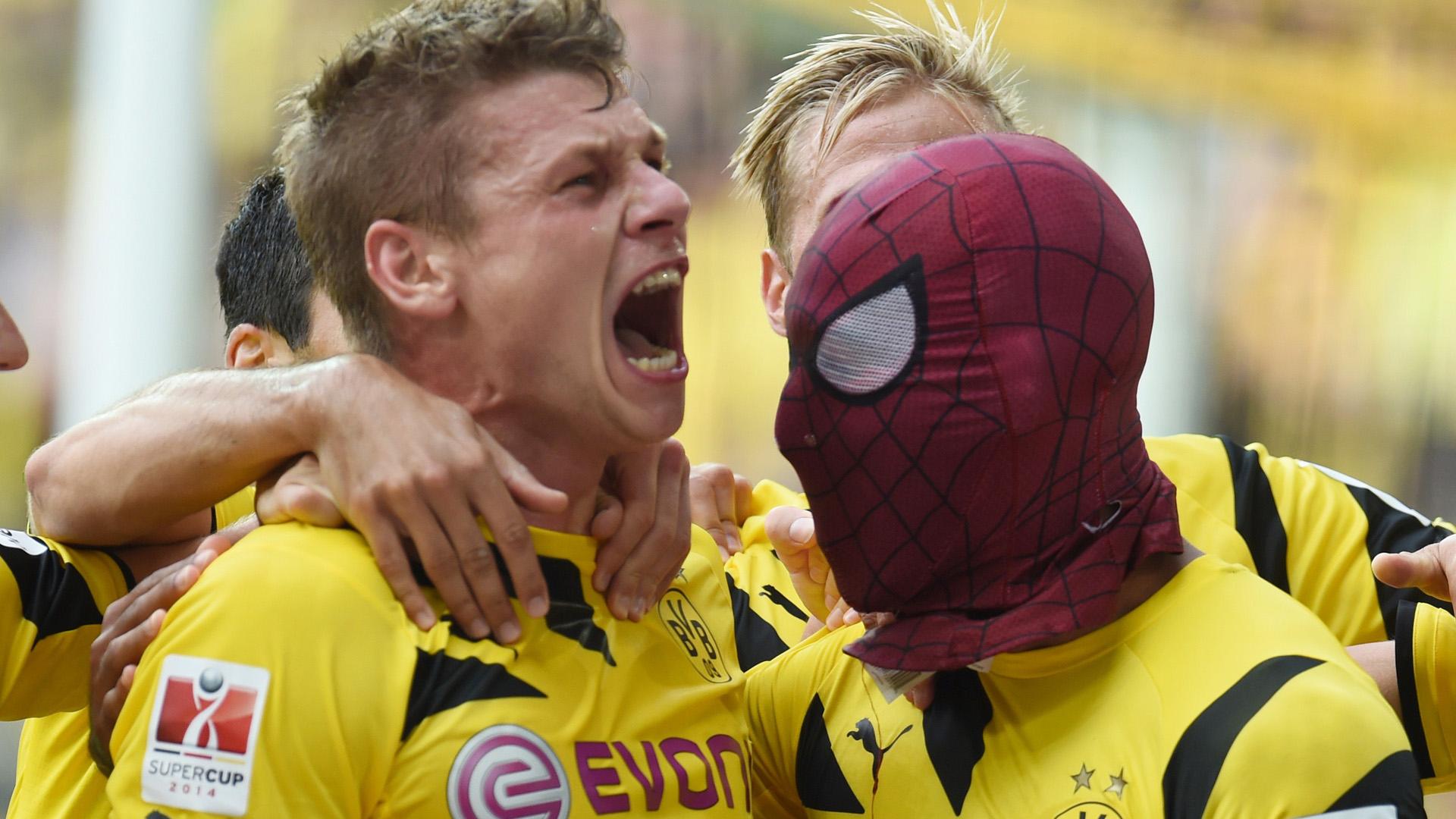 Aubameyang Dortmund Spiderman